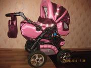 Продается коляска-трансформер, цвет розово-бордовый